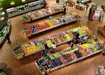Sección de frescos de un supermercado