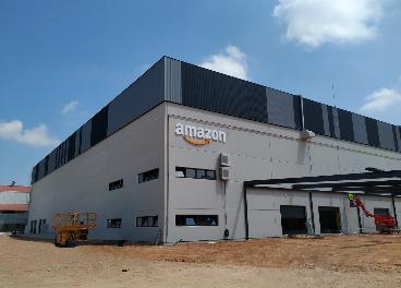 Estación logística de Amazon en Siero (Asturias)