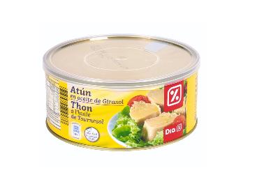 Lata de atún en aceite de girasol de DIA