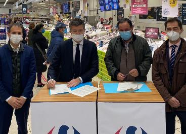 Firma del acuerdo de Carrefour