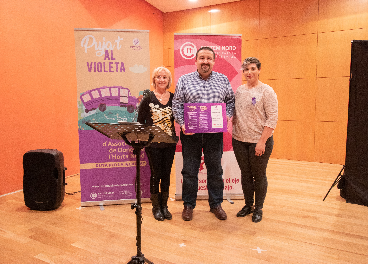 Distintivo Violeta para Makro Valencia