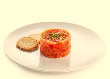 Tartar de salmón de Ahumados Domínguez