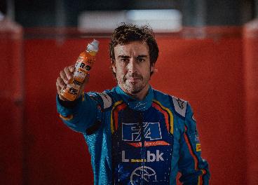 Fernando Alonso y Raw Superdrink
