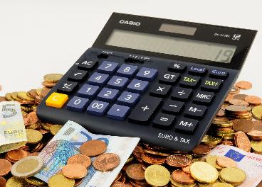 Euros y calculadora