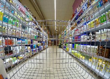 Carrito en supermercado
