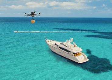 Drones para el delivery en yates