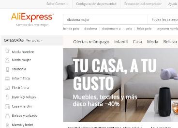 OCU denuncia a Aliexpress
