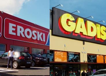 Tiendas de Eroski y Gadisa