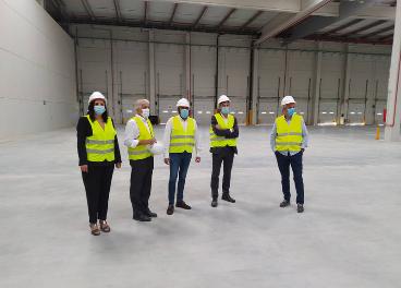 Visita al nuevo centro logístico de Carrefour