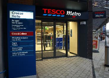 Tienda de Tesco Metro en Gales