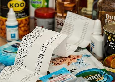 Ticket de compra con productos