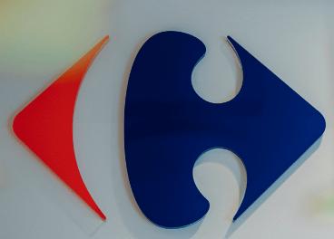 Logo de Carrefour con los colores de Francia