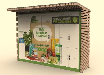 Mobiliario click & collect de ITAB-La Fortezza