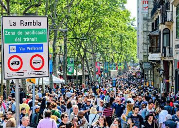Comercios en calles peatonales
