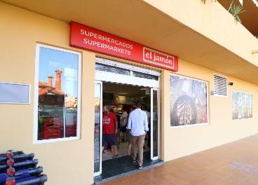 Entrada a una tienda de Supermercados El Jamón