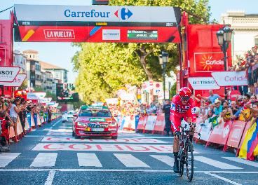 Meta de La Vuelta con el patrocinio de Carrefour
