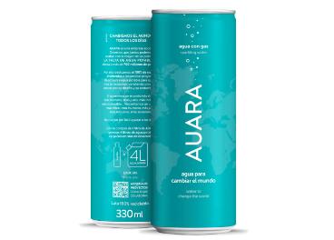 Agua mineral con gas Auara