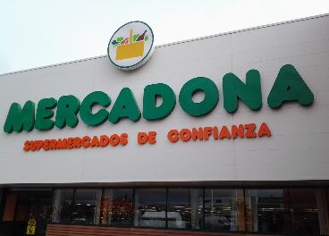 Fachada de un supermercado de Mercadona