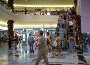 Interior de centro comercial