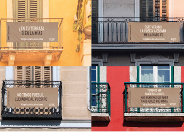 Balcones con mensajes de DYC
