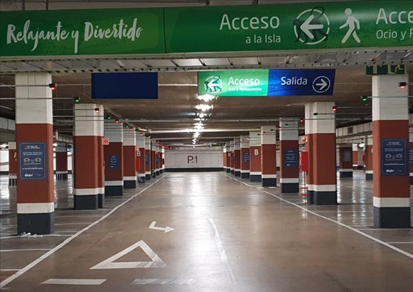 Parking con distanciamiento social